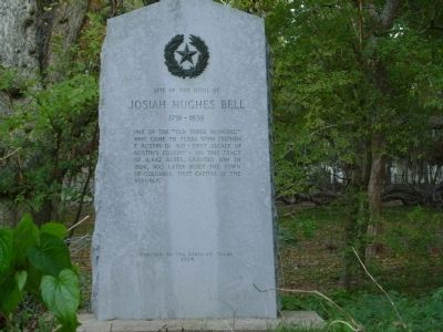 Site of the home of Josiah Hughes Bell Marker image. Click for full size.