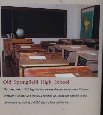 Old Springfield High School image. Click for full size.