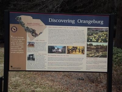 Discovering Orangeburg Marker ~ Reverse image. Click for full size.