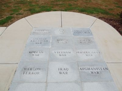 Stones commemorating American Conflicts image. Click for full size.