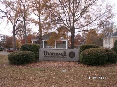 Thornwell Home & School for Children Sign image. Click for full size.