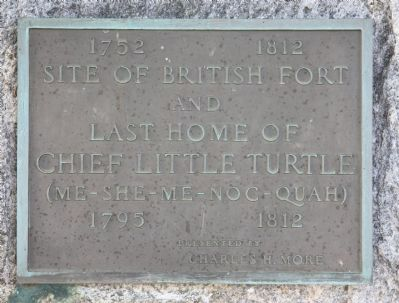 Last Home of Chief Little Turtle Marker image. Click for full size.