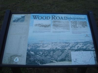 Wood Road & Jacques Ridge Marker image. Click for full size.