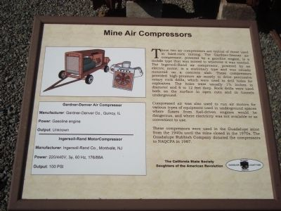 Mine Air Compressors Marker image. Click for full size.
