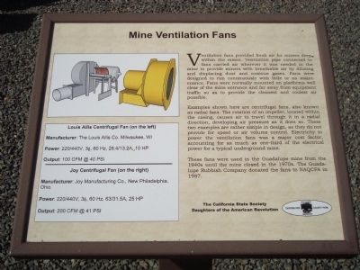 Mine Ventilation Fans Marker image. Click for full size.