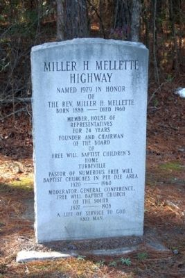 Miller H. Mellette Highway Marker image. Click for full size.