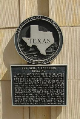 The Neil P. Anderson Building Marker image. Click for full size.