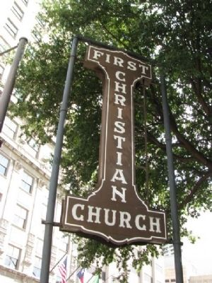 First Christian Church Sign image. Click for full size.