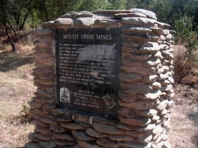 The Ophir Mines Marker image. Click for full size.
