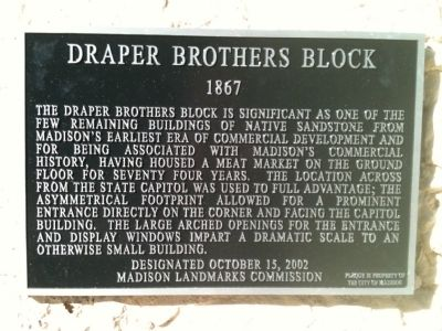 Draper Brothers Block Marker image. Click for full size.