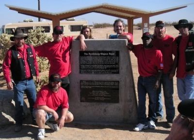 The dedication of the Randsburg - Mojave Road Marker image. Click for full size.