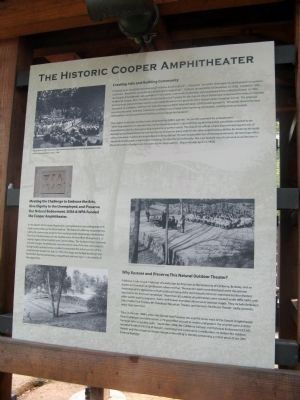 The Historic Cooper Amphitheater Marker image. Click for full size.