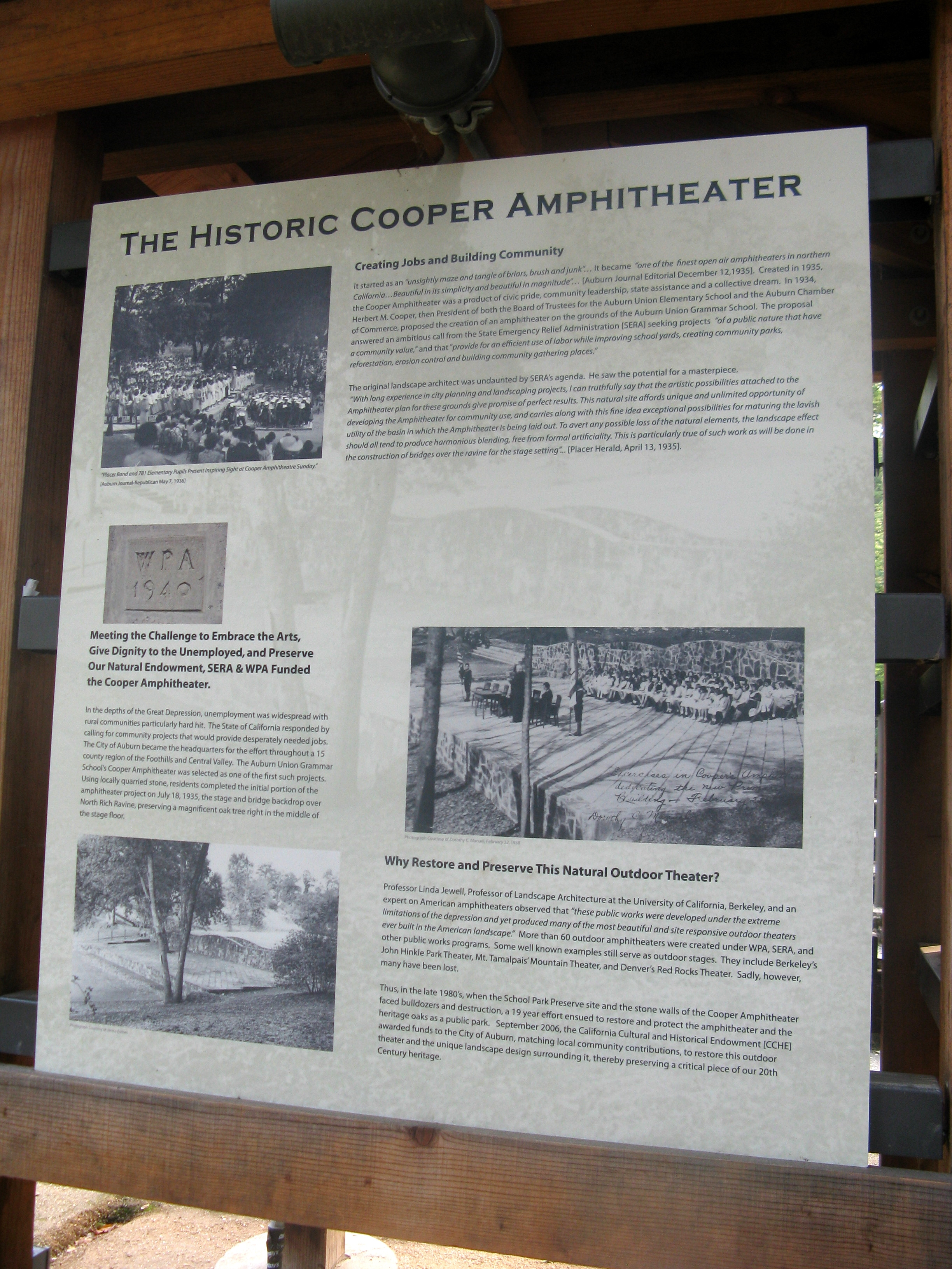 The Historic Cooper Amphitheater Marker