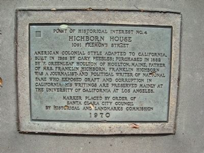 Hichborn House Marker image. Click for full size.