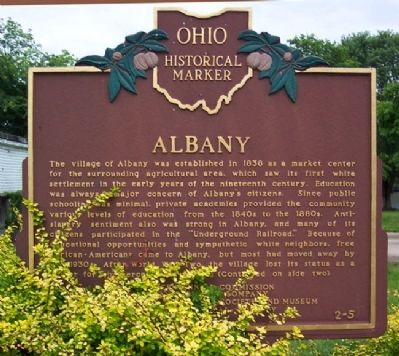 Albany Marker (Side A) image. Click for full size.