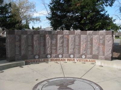 Roseville Korean War Veterans Memorial image. Click for full size.