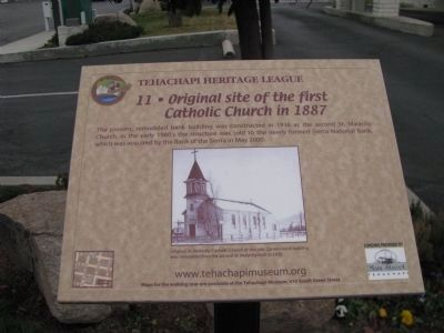 Original site of the First Catholic Church in 1887 Marker image. Click for full size.