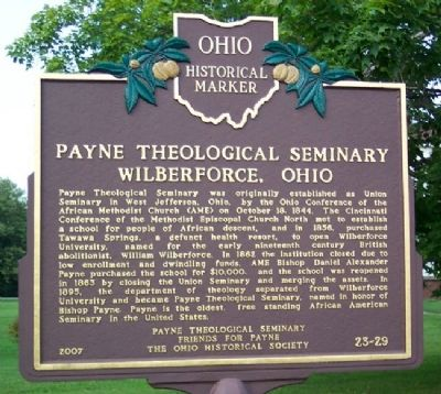 Payne Theological Seminary Marker image. Click for full size.