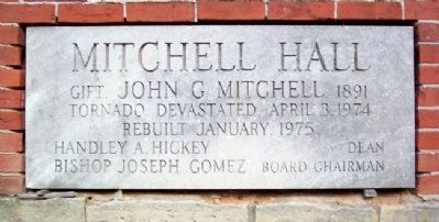 Payne Theological Seminary Mitchell Hall Cornerstone image. Click for full size.