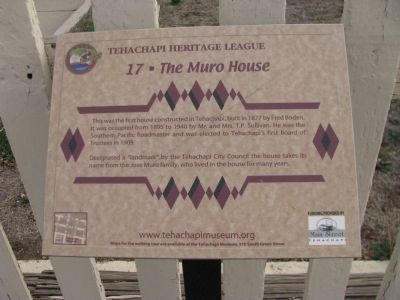 The Muro House Marker image. Click for full size.