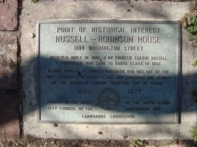 Russell – Robinson House Marker image. Click for full size.