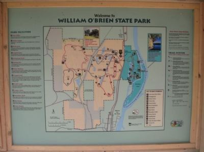 William O'Brien State Park Map image. Click for full size.