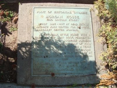 Morgan House Marker image. Click for full size.