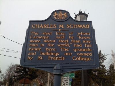 Charles M. Schwab Marker image. Click for full size.