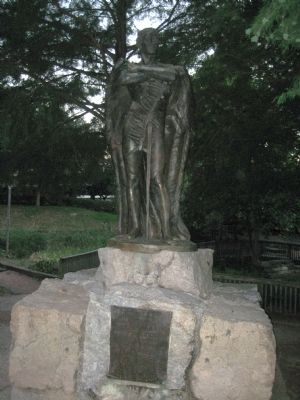 Sam Houston Park Monument image. Click for full size.