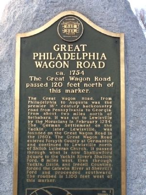 Great Philadelphia Wagon Road Marker image. Click for full size.