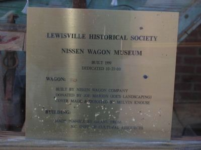 Nissen Wagon Museum sign image. Click for full size.