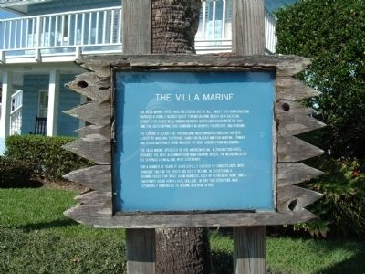 The Villa Marine Marker image. Click for full size.