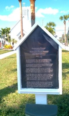 Community Chapel of Melbourne Beach Florida Marker image. Click for full size.