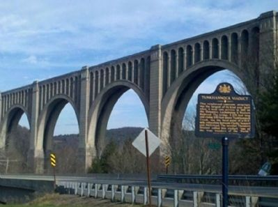 Tunkhannock Viaduct Marker image. Click for full size.