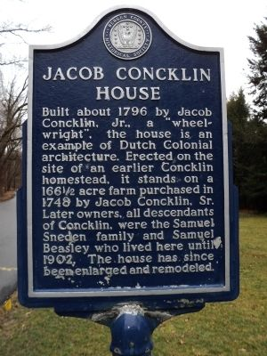 Jacob Concklin House Marker image. Click for full size.