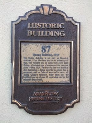 Quong Building, 1913 Marker image. Click for full size.