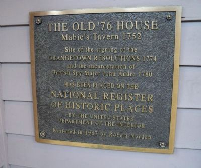 The Old '76 House Marker image. Click for full size.