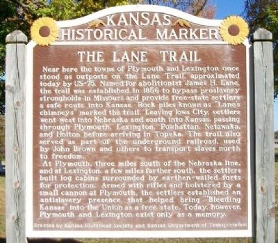 The Lane Trail Marker image. Click for full size.