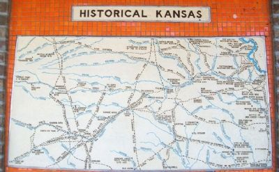 Historical Kansas Marker on Comfort Station Exterior image. Click for full size.