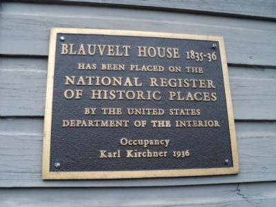 Blauvelt House Marker image. Click for full size.