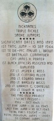 555th Parachute Infantry Company Firsts image. Click for full size.