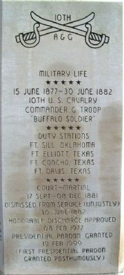 2nd Lt. Henry Ossian Flipper Monument image. Click for full size.
