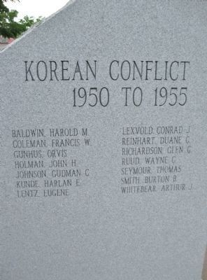 Korean Conflict · 1950 to 1955 image. Click for full size.