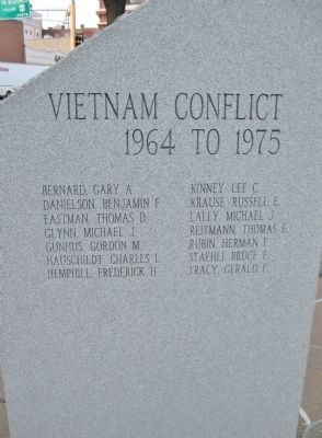 Vietnam Conflict · 1964 to 1975 image. Click for full size.