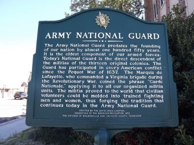 Army National Guard Marker image. Click for full size.