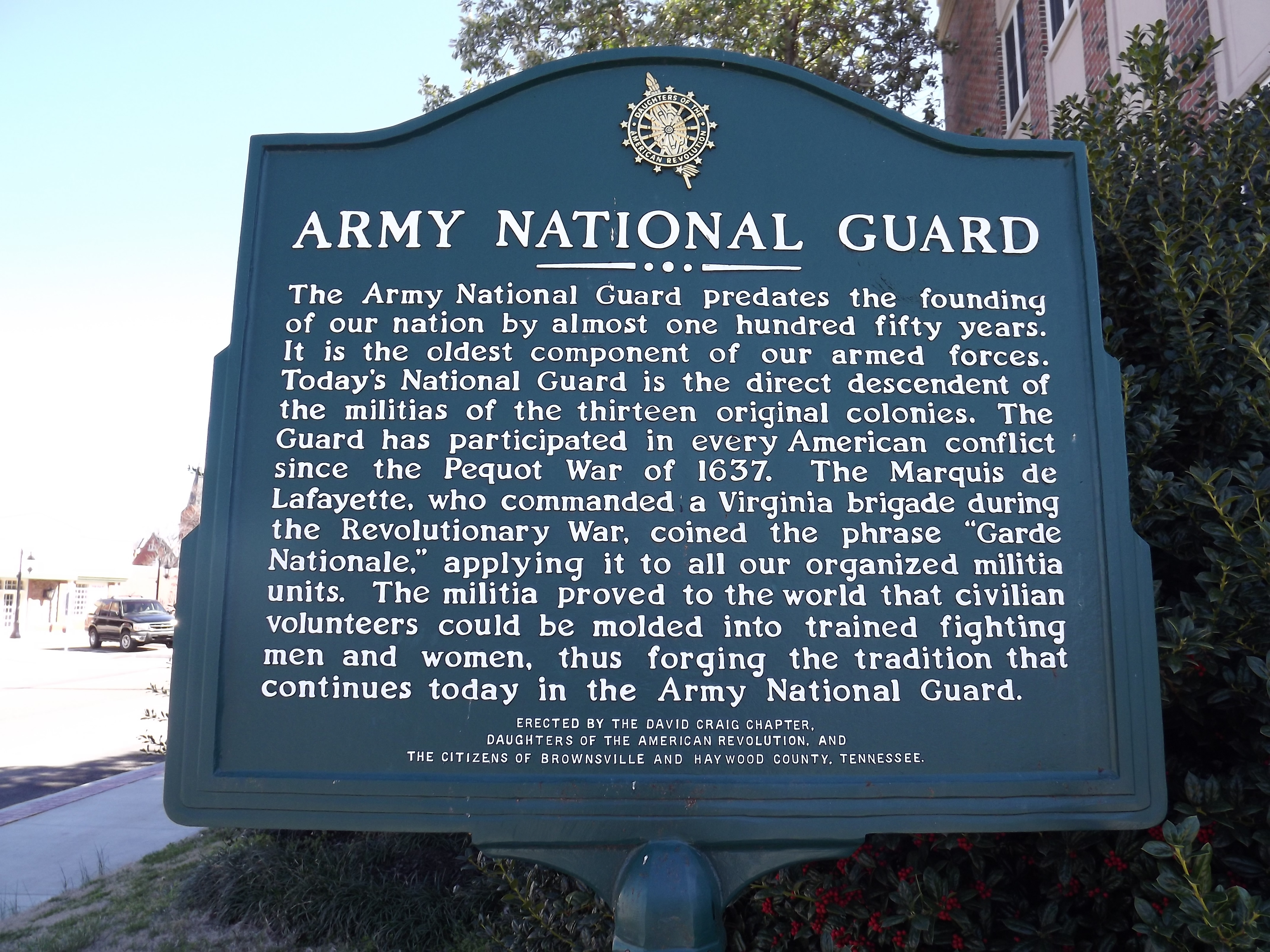 Army National Guard Marker