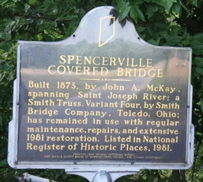 Spencerville Covered Bridge Marker image. Click for full size.