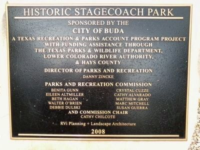 Historic Stagecoach Park Marker image. Click for full size.