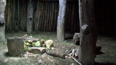 """Grand Village des Canzes"" Sod House Interior image. Click for full size."