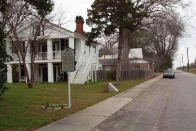Ashley - Willis House and Marker looking northwest along West Main Street image. Click for full size.